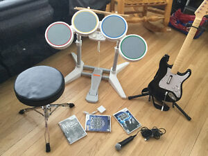 Kit complet rock band - wii