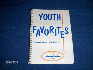 YOUTH FAVORITES-GOSPEL SONGS-1963-SONG BOOK-SINGSPIRATION