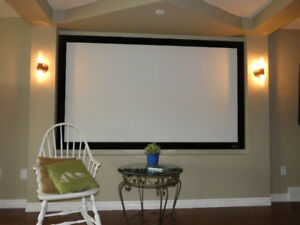 """Mitsubishi HC4000 Projector TV with 94""""  S.I. screen"""
