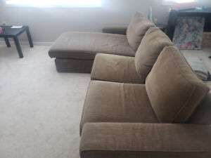 Selling an apartment size sectional!