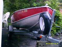 14 foot aluminuim boat with a trailer...