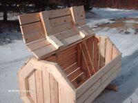 Wood Garbage Box