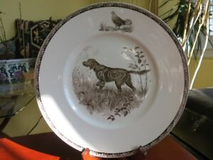 Antique Wedgewood Sporting Dog Plates