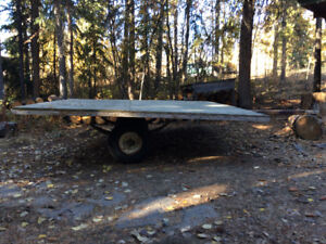 "Trailer (L: 84""x W:81"" w/ 48"" tongue), 5.7-8 tires, LIGHT WT OBO"