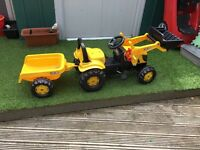 TRACTOR & trailer hardly used