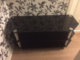 BLACK TV STAND & MIRROR £40!!