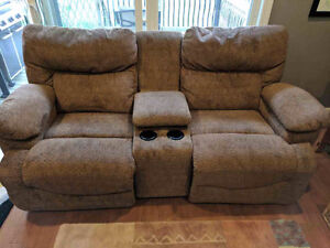 Lazy Boy Loveseat with console