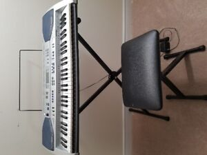 Casio keyboard with stand and chair