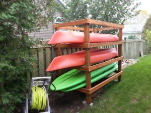 Newly built kayak and paddle board rack