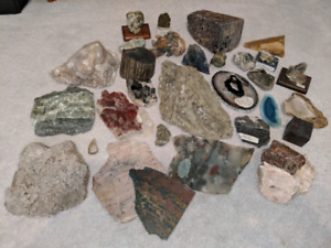 Rock, fossil, mineral collection