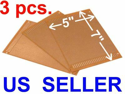 3 Pcs 5x7 12x18cm Prototyping Pcb Printed Circuit Board Prototype Breadboard