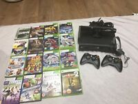 Xbox 360 120 Gb with kinect and 16 games
