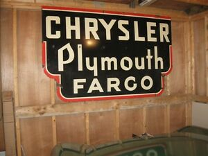 old service station or dealer porcelain sign