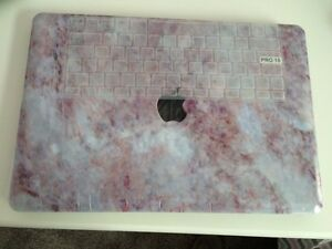 Marble painting hard case + key cover for Macbook Pro