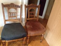 4x Antique chairs , over 100 years old . £60