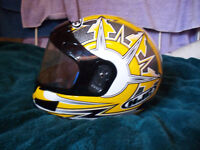 Mint Condition Motorcycle Helmet, Snell Approved