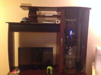 Glass Door TV Cabinet - Wall Unit For Sale