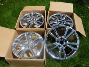 Wheels, roues, mags, jantes chrome 17 pouces