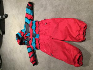 One piece toddler snow suit- size 2 - almost new