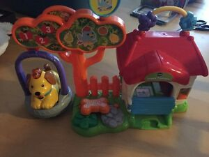 Vetch puppy and doghouse