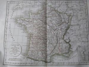 year 1790 Map of France - originally $750