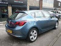 2013 Vauxhall Astra 1.6i VVT 16v 115ps SRi 5DR 62 REG Petrol Blue