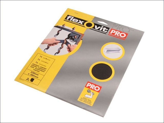 Flexovit - Emery Cloth Sanding Sheets 230 x 280mm Fine 120g (25)