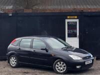 2004 FORD FOCUS GHIA AUTOMATIC + FULL BLACK LEATHER + ALLOYS + 5 DOOR + AUTO +