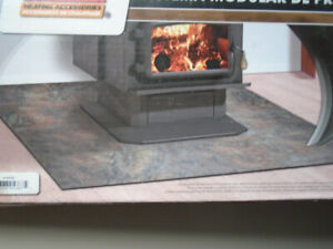 Hearth for wood stove-fireplace