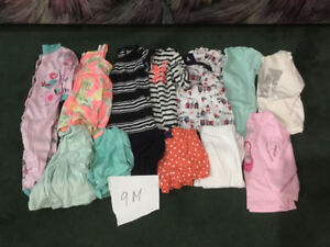 9 month baby girl clothing lot (13 pieces)