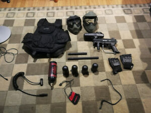 Kit de paintball! A5, Masques, Veste, ...