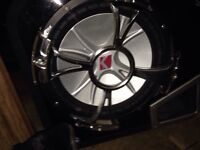 """12"""" 800w kickers with 800w kenwood amp and all wiring"""