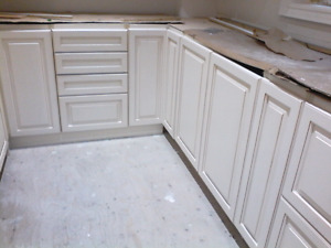 Miscellaneous cabinets apart of larger kitchen