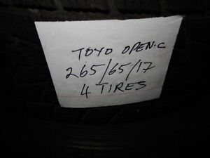 Size:265/65/17   TOYO  OPEN COUNTRY