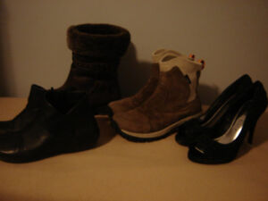 Ladies Boots and Heels size 7.5 - like new