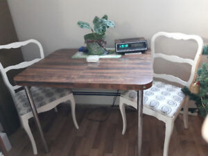 Table and two chairs for Sale