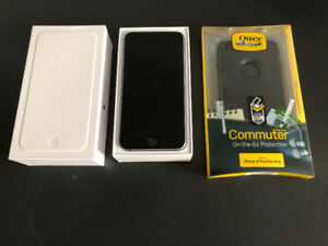Unlocked Apple iPhone 6 Plus with NEW Otterbox case, Accesories