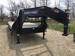 102x20 Plus 5 ft Beavertail Sure Trac Gooseneck Trailer Kitchener / Waterloo Kitchener Area image 1