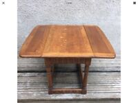 Beautiful 1930s Vintage Old Charm Ercol Drop Leaf Square Coffee Table 2085