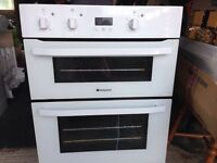 Hotpoint built under electric double oven and grill