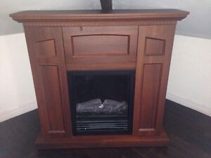 1500w electric fireplace cabinet with storage!