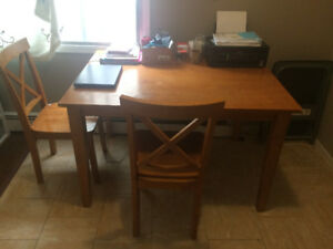 Moving Sale - Dinning table with 3 chairs