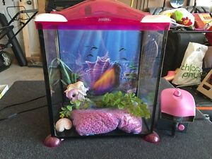 17 Litre MARINA Mermaid Themed Glass Aquarium