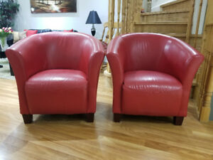 Red Accent Chairs