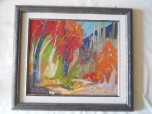 Louis Tremblay b1949 Canadian Listed Oil on Board