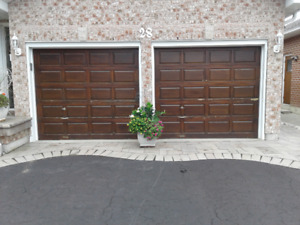 Cedar wood garage doors