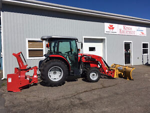 Massey Ferguson 49hp Cab Tractor with Snow Removal Package