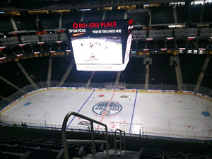 Oilers vs Ducks game 4 May 3rd Center ice Aisle seats!