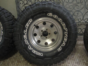 "Wrangler MTR 33's on 15"" Aluminum American racing style rims. London Ontario image 2"
