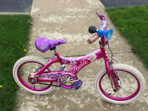 "Girls 16"" bike Barbie"